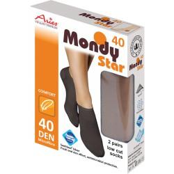 Silnější ponožky 40DEN s tvarovanou patou antibakteriální