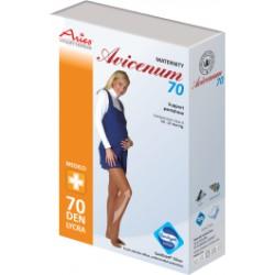 TĚHOTENSKÉ podpůrné punčocháče 70DEN Sanitized® Silver